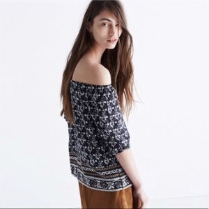 Madewell Tops - Madewell Off the Shoulder Chiffon Top